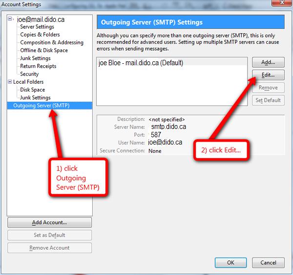 Configuring Mozilla Thunderbird for TLS – Dido Internet